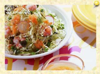 春野菜のサラダ にんじんドレッシ…